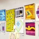 Exhibit of small quilts, Bellingham, WA