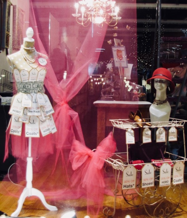 Social Fabric window display